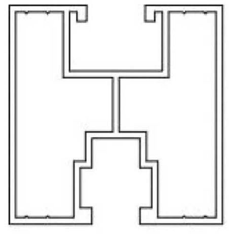 Profil montażowy 40x40 fotowoltaika 2,1m