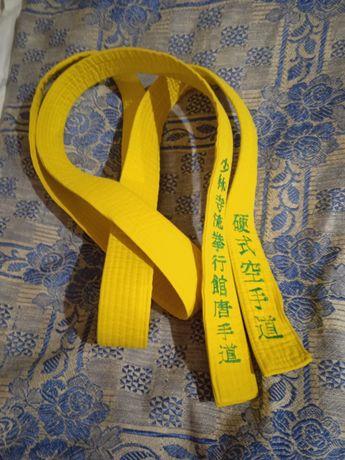 Жёлтый пояс каратэ