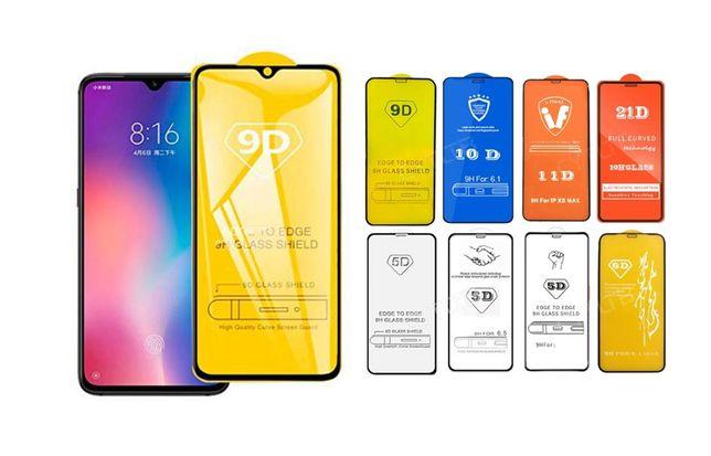 5D 9D Стекло Xiaomi Mi max Mix 2 3 Redmi Note 4x 5 6 7 8t 9c 9s 9a pro