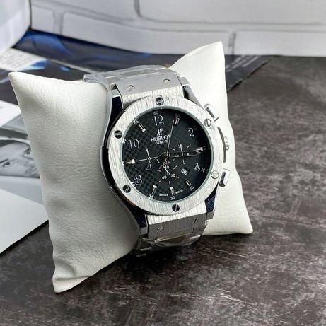 Мужские стильные наручные часы Hublot.3 Цвета.ТОП Качество и цена!ЖМИ