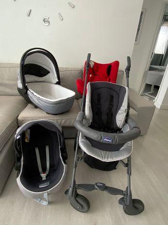 Trio Chicco + Cadeira Eletta Chicco (até 18 kgs)