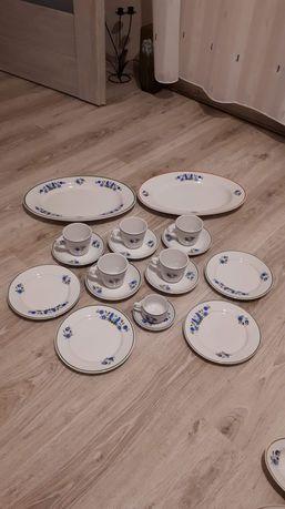 Porcelana kaszubska Lubiana Talerze kubki  półmiski kaszubski zestaw