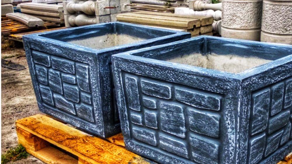 Цветочница бетонная уличная, квадратная Київ - зображення 1