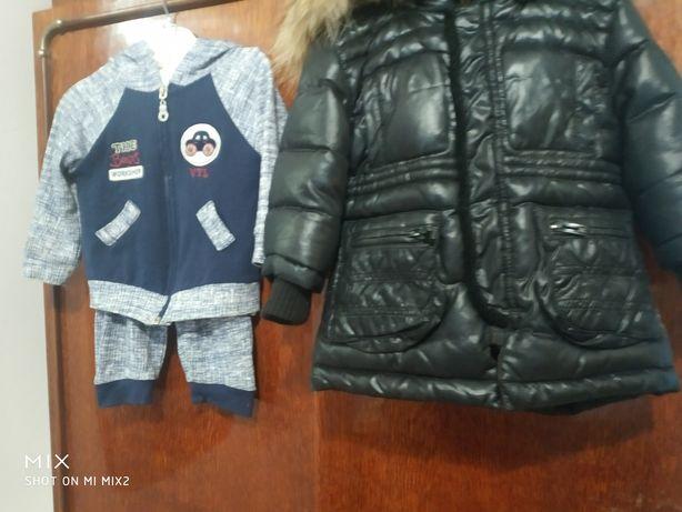 Для мальчика курточка и костюм на год