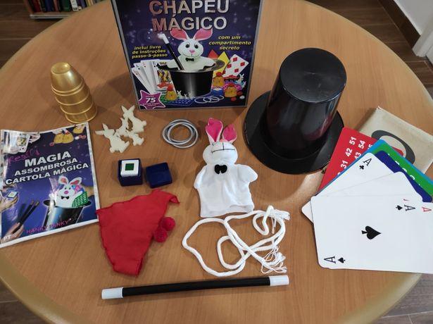 Kit de magia com Cartola
