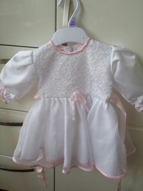 Ubranko dla dziewczynki do chrztu rozmiar 62