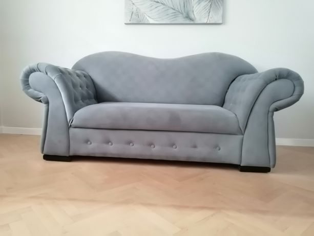 Sofa kanapa black red white szara