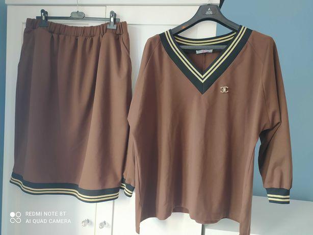 Piękny zestaw spódnica+bluzka 54