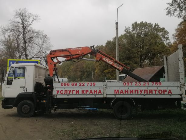 Кран манипулятор. Послуги крана маніпулятора. Вантажні перевезення.