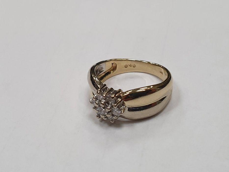 0.4 CT VS! Piękny złoty pierścionek/ 585/ Brylanty/ stan idealny/ R13 Gdynia - image 1