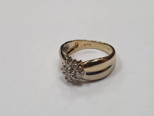0.4 CT VS! Piękny złoty pierścionek/ 585/ Brylanty/ stan idealny/ R13