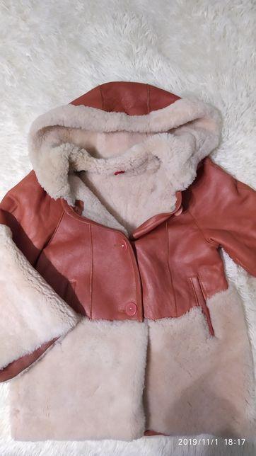 Зимова куртка на ріст 122, натуральна дубльонка