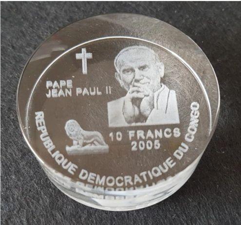 Jan Paweł II 10 franków nakład 1000 sztuk akryl