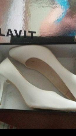 Вечірні туфлі р.40(25,5см) шкіра.