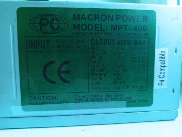 Блок питания для компьютера (ПК) MACRON PAVER 400W