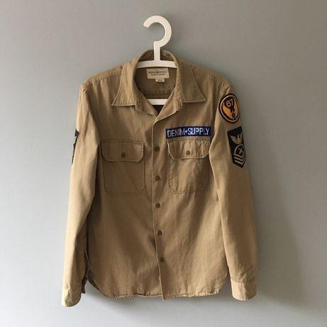 DENIM&SUPPLY Ralph Lauren koszula męska S moro militarny styl gruba