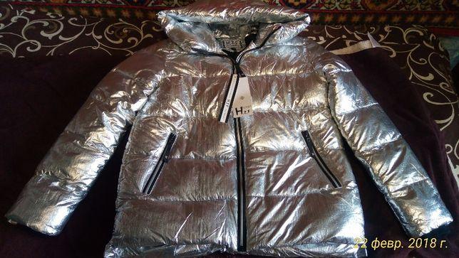 Женская курточка серебристого цвета