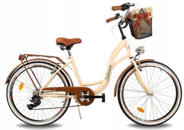 ROWER MIEJSKI DAMSKI Rower Damka Koła 28 Cali + GRATIS Koszyk
