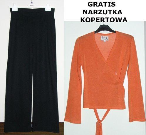 Nowe spodnie ciążowe dresowe czarne rozmiar M 38/40 + gratis narzutka
