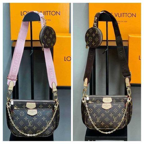 Сумка женская Louis Vuitton Multi Pochette 3в1 Люкс качество Луи Витон