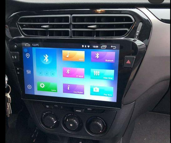 Auto rádio Citroen Elysee Peugeot 301 Android GPS Bluetooth USB