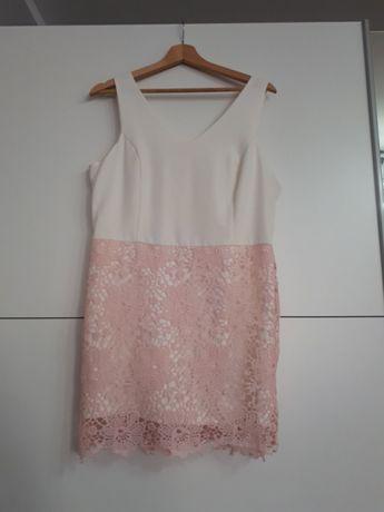 Sunienka ecru roz koronka M/L