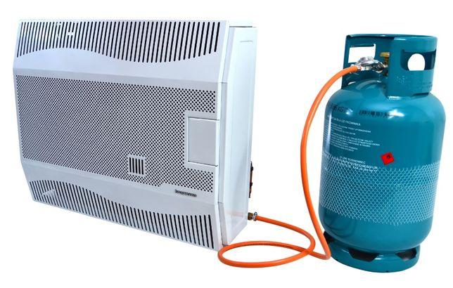 Ogrzewacz gazowy 5 kW z wentylatorem, nagrzewnica, wyrzut spalin