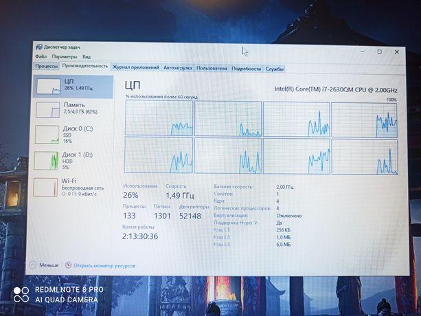 Процессор для ноутбука Intel Core i7 2630QM 2.9 ГГц
