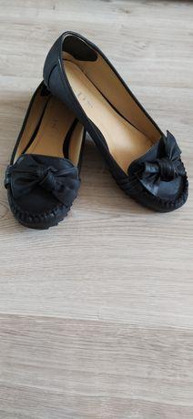 Czarne baleriny mokasyny 38 (39)