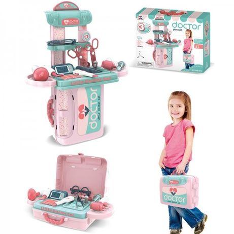 Чемодан детский , инструмент медицинские,трюмо в чемодане,кухня