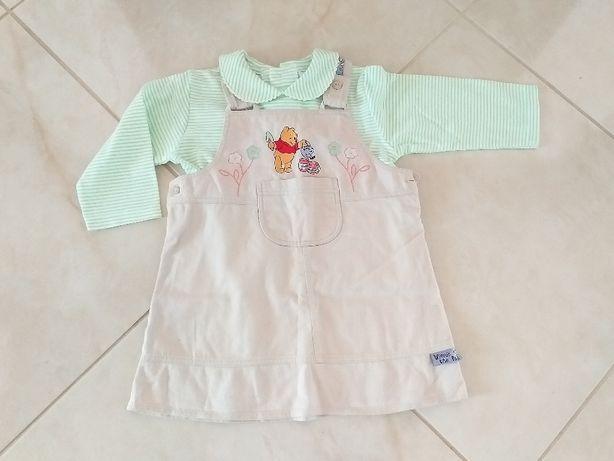 Komplecik sukienka bluzeczka Kubuś Puchatek nowy r 92-98