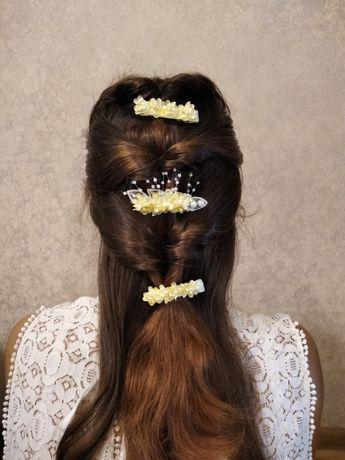 Набір заколок для волосся , весільні прикраси