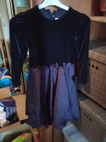 Sukienka ciepła fioletowa 134