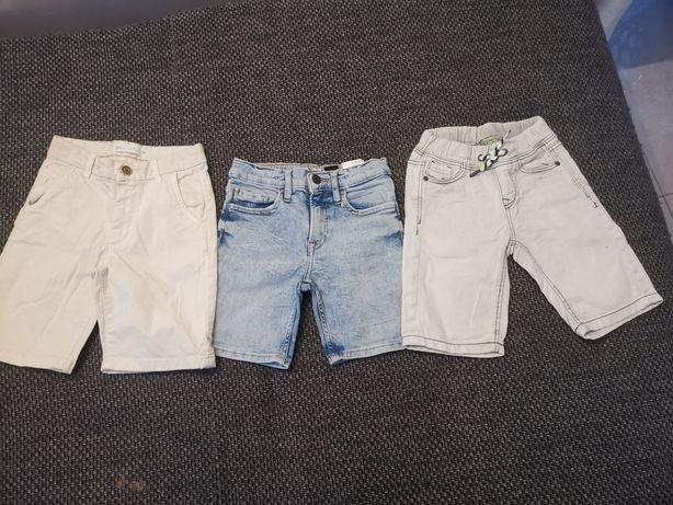 Krótkie jeansy na chłopca 104/110/122
