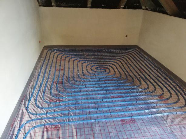 Instalacje podłogówka, kanalizacja, rekuperacja. TANIO