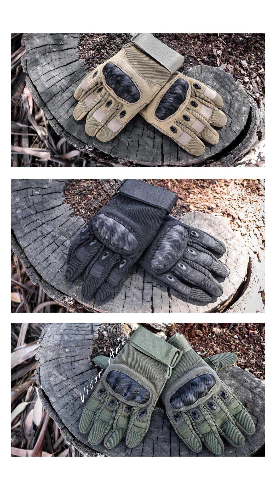 Luvas com Proteção Táticas/Militar para Moto/Airsoft (3 Cores)|NOVAS