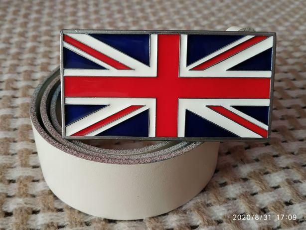 Коллекционный ремень пряжка эмаль флаг  Британии Англия 1999