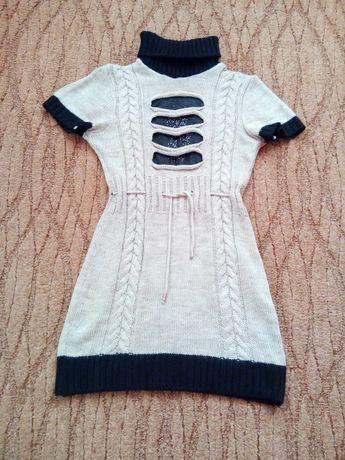 Туника платье вязаная