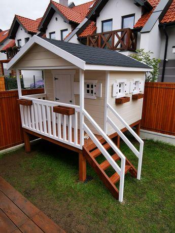 Domek ogrodowy dla dzieci, domek drewniany dla dzieci, domek z drewna