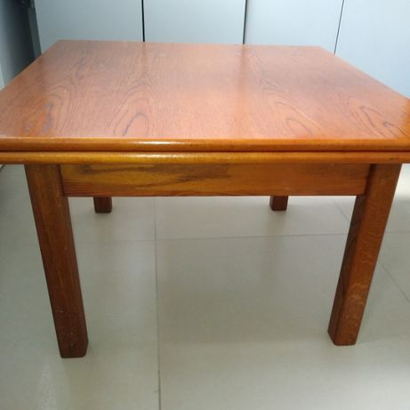 Stolik stół ława dębowa brązowa rozkładana 75/75 stół dębowy