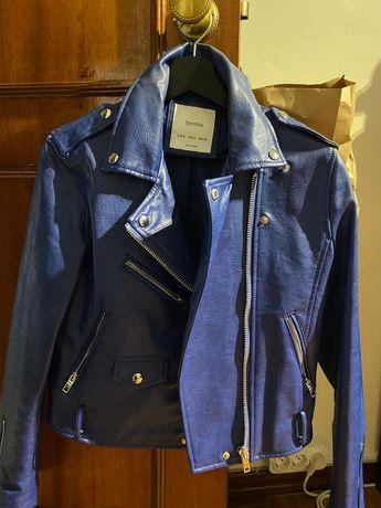 Blusão Cabedal Azul (como novo)