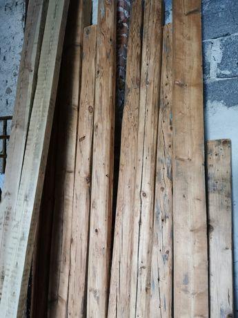 Stare drewniane belki, stopowe