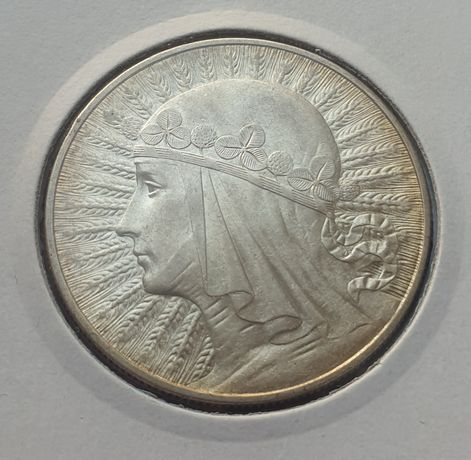 10 zł glowa kobiety  1933r