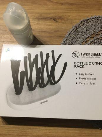 Suszarka na butelki + butelka antykolkowa Twistshake