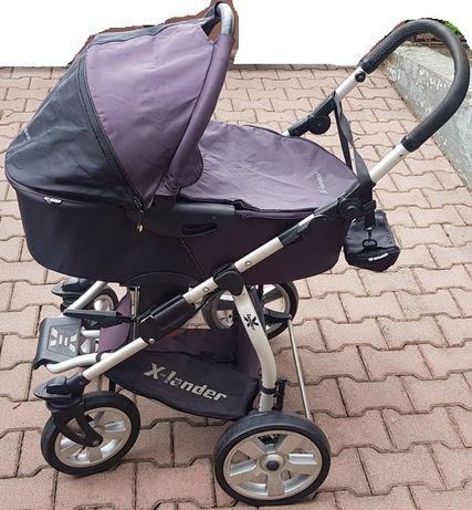 Wózek Xlander 3w1 gondola spacerówka spacerowy fotelik Maxi Cosi IDEAŁ