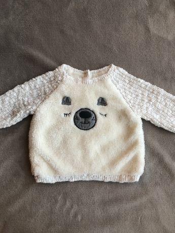 Uroczy biały sweterek, Next, rozmiar 62
