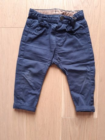 Granatowe spodnie, 80, h&m