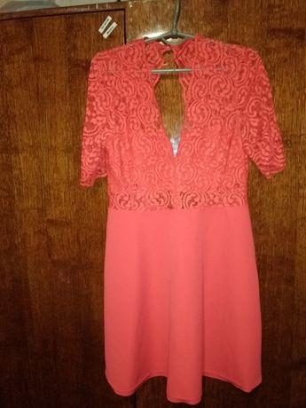 Нарядное, вечернее платье 46-48 рр, кружево, гипюр