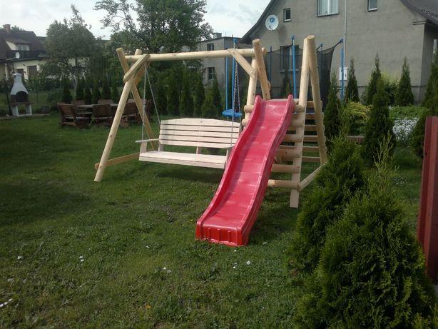 Meble ogrodowe, plac zabaw, huśtawka,stół ławki.