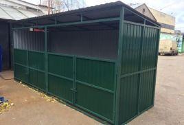 Ограждение площадки для мусорных контейнеров,Площадки для мусора ТБО
